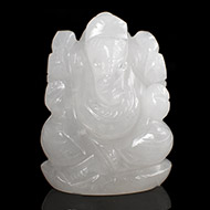 White Agate Ganesha - 136 gms