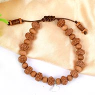 8 mukhi Ganesha bracelet from Java with Sandalwood beads
