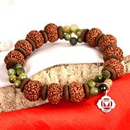 8 Mukhi Rudraksha and Cats Eye Bracelet (Root)