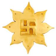 8 petal swastik lotus in brass
