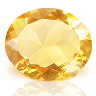 Yellow Citrine - 3 to 4 carats - Oval