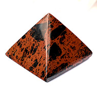 Pyramid in Natural Mahagony - 116 gms