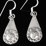 Surya Earrings in Silver - Design III