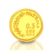 0.5 gm Pure Gold Coin - 24 carat