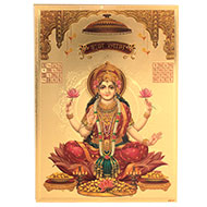 Subh Labh Mahalaxmi Photo in Golden Sheet - Large