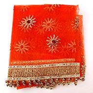 Orange Net Mata ki Chunri - III