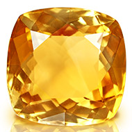 Yellow Citrine - 7.65 carats - Square Cushion