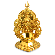 Maa Durga diya in brass