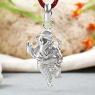 Ganesh Locket in pure silver - Design V