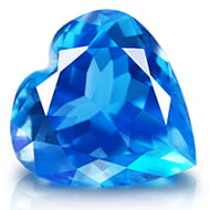 Blue Topaz - 5 to 6 carats - Heart