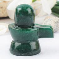 Green Jade Shivlinga - 60 gms
