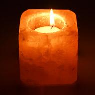 Himalayan Rock Salt Candle Lamp - Square shape