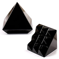 Multi Pyramid in Black Jade-Protection and support - 29 gms