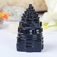 Shree Yantra in Blue Sun Stone -  30 gms