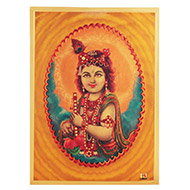 Lord Nanda Gopal Photo in Golden Sheet - Large