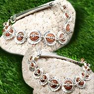 Indrakshi bracelet in silver - Design II