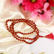Rudraksha mala in thread - 5mm