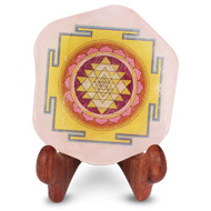 Shree Yantra on Rose Quartz