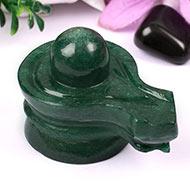 Green Jade Shivlinga - 175 gms