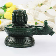 Pashupatinath Shivling in Green Jade