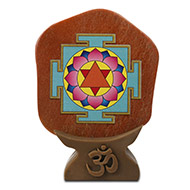 Shree Krishna Yantra on Orange Jade