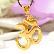 Om Locket in pure Gold - 3.08 gms