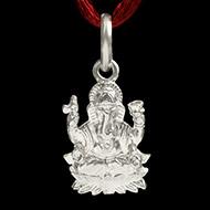 Ganesh Locket in Pure Silver - Design XI