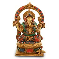 Ganesha idol with stone work