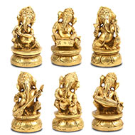 Musical Ganesha in Brass