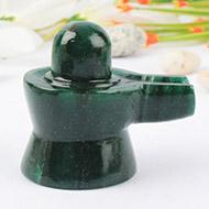 Green Jade Shivlinga - 89 gms