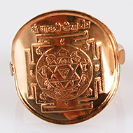 Shree Gayatri Bisa Yantra Ring in Copper