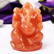 Red Jade Ganesha - 125 gms