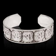 Om Bracelet in pure silver - Design I