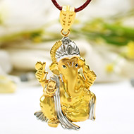 Ganesh Pendant in Gold - 5.73 gms