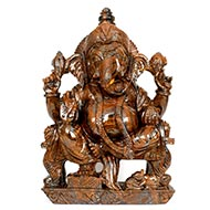 Maha Ganesha Idol in Tiger Eye Stone