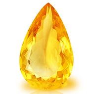 Yellow Citrine - 9 - 11 Carats - Pear