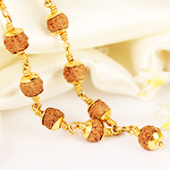 Custom Products Making for Rudraksha Mala in Gold