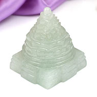 Light Green Jade Shree Yantra - 74 gms