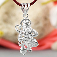Hanuman locket in pure silver - Design X