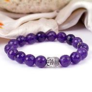Amethyst with Buddha Bracelet