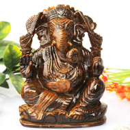 Tiger Eye Ganesha - 503 gm