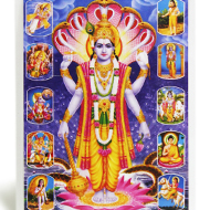 Lord Vishnu with Dashavatar Photo