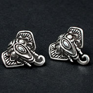 Ganesh Earrings in pure silver - 4.35 gms
