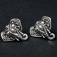 Ganesh Earrings in pure silver - 4.35 gms