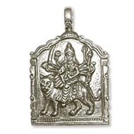 Durga Locket in Pure Silver - Design VII