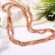 Sunstone Necklace - Oval beads