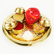 Puja Thali in brass