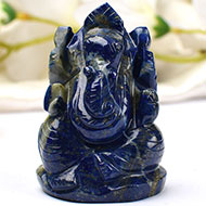 Lapis Lazuli Ganesha - 98 gms