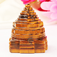 Shree Yantra in Tiger Eye Stone - 103 gms