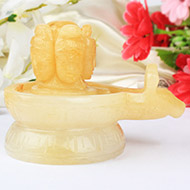 Pashupatinath Shivling in Yellow Jade 642 gms